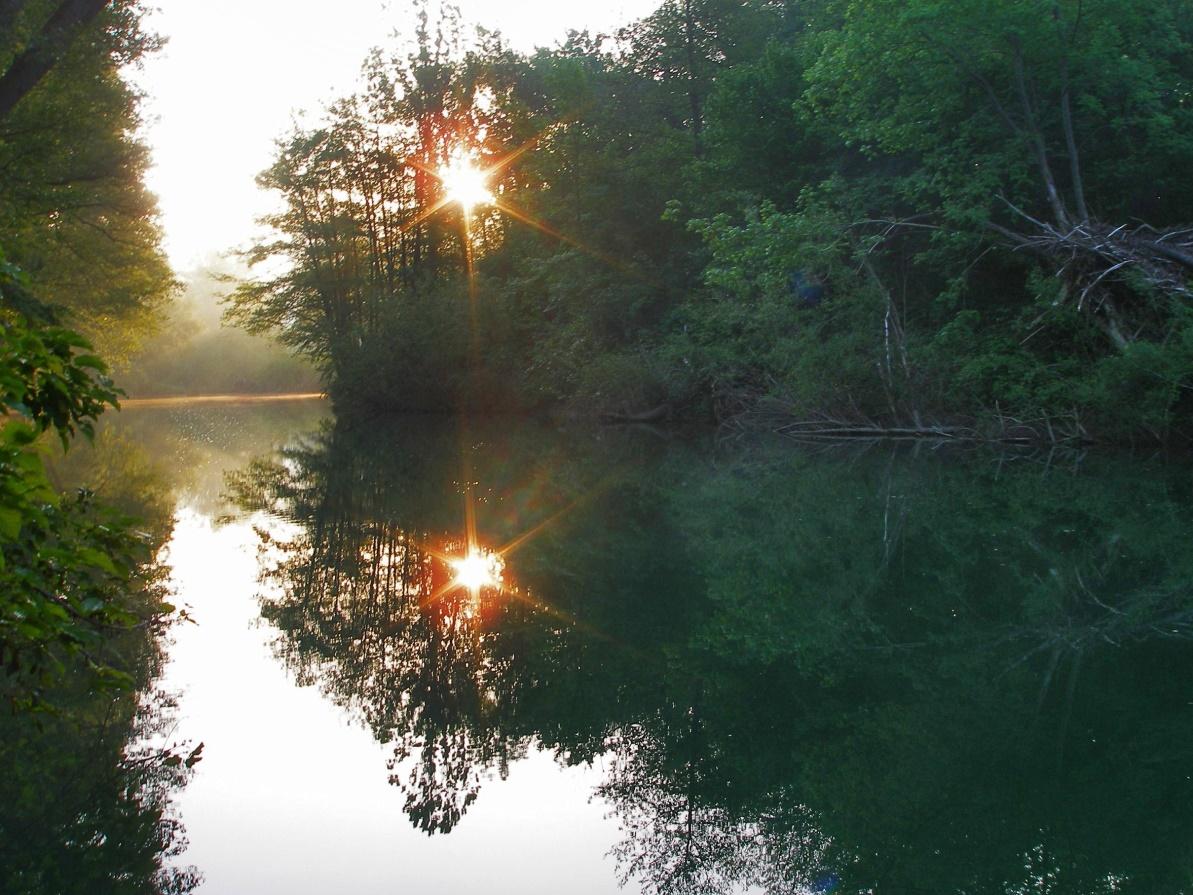 Рассвет на реке Абин