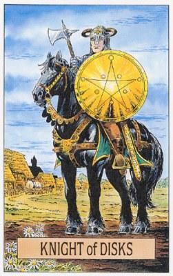 Развернутое значение карт Таро Рыцарь Пентаклей