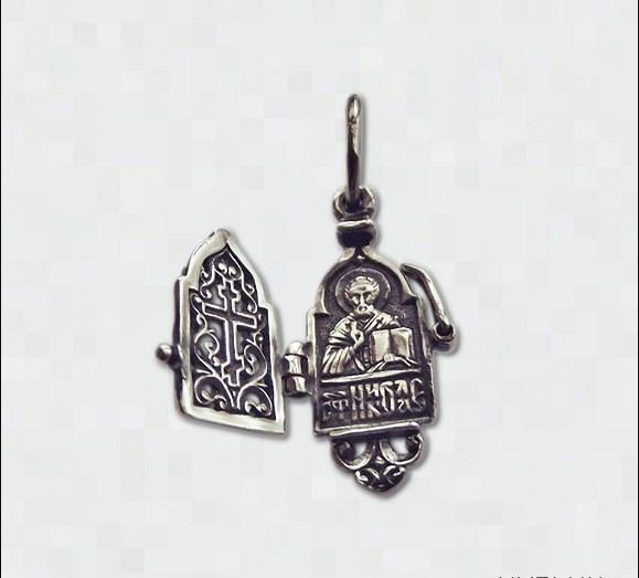серебряная Ладанки имени святого